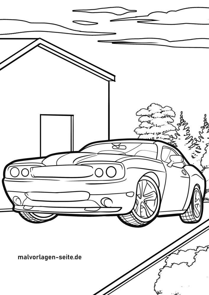 Planșă de colorat mașină sport auto