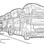 Оцветяваща страница автомобилен транспортьор