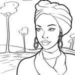 Оцветяване страница жена