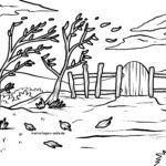 صفحه رنگ آمیزی فصول پاییز