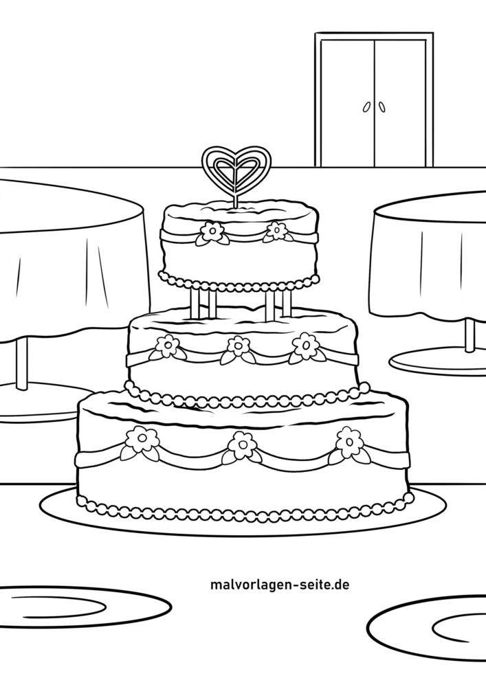 Раскраска торт