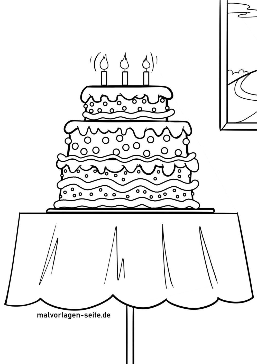 Размалёўка торта