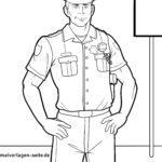 مرد صفحه رنگ آمیزی با لباس فرم