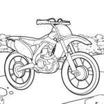 Motocicleta para colorear