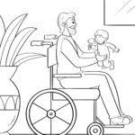 Страница за боење човек во инвалидска количка