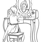 میز آرایش صفحه رنگ آمیزی