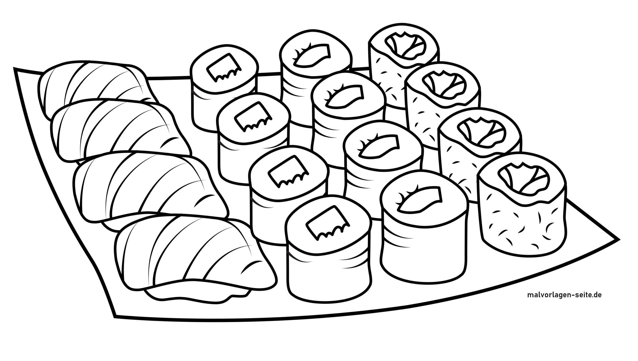 Tolle Malvorlage Sushi - Kostenlose Ausmalbilder