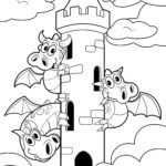 Mga dragons nga pahina sa pagkolor