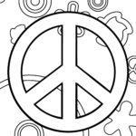 Vorlage Friedenssymbol - Symbol für Frieden