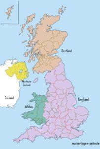 Landkarte Vereinigtes Königreich