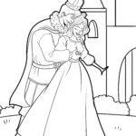 Malvorlage Prinzenpaar - Prinz und Prinzessin