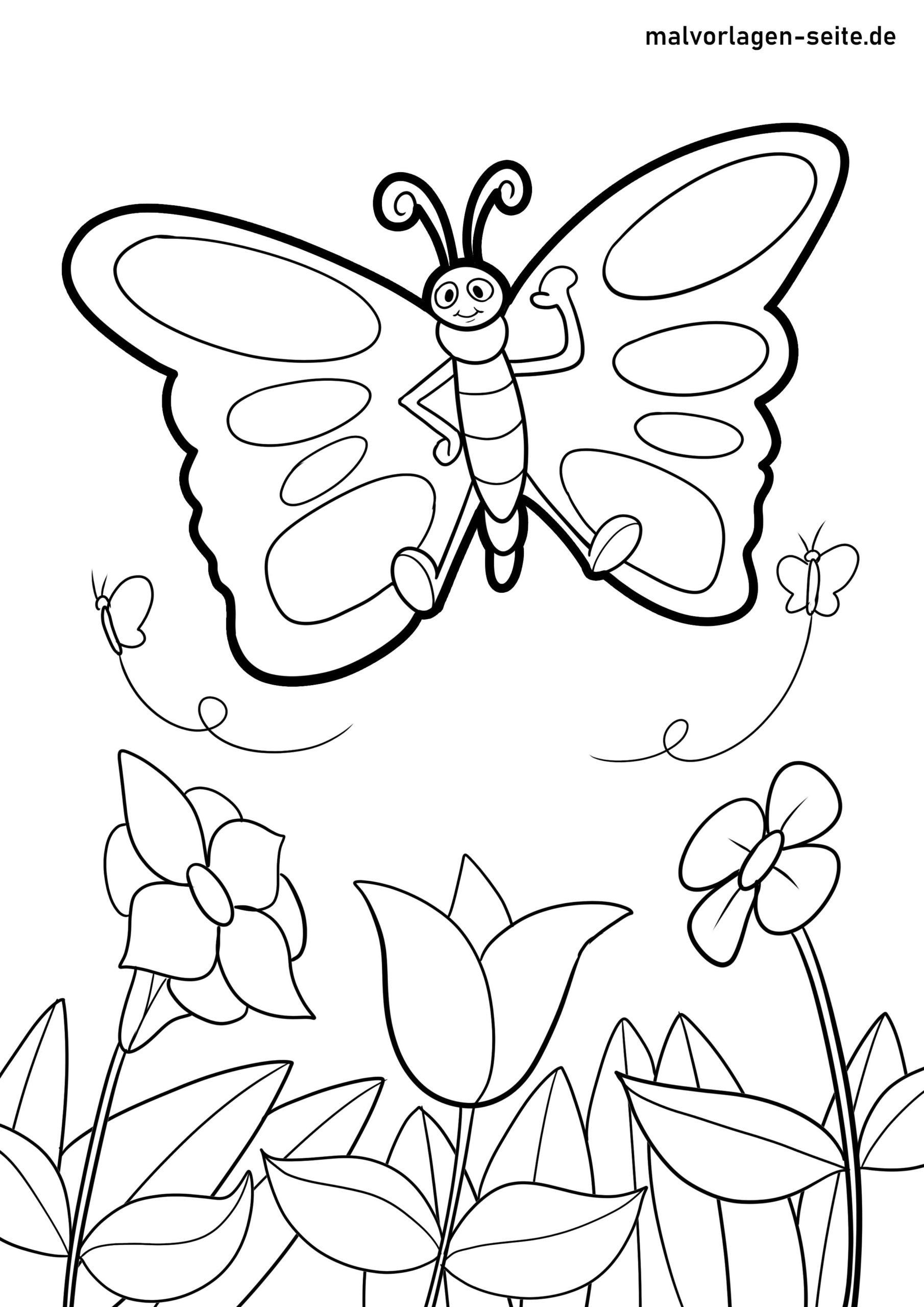 Malvorlagen Schmetterlinge Zum Ausmalen Für Kinder