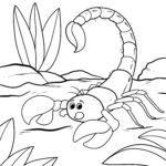 Páxina para colorear escorpión - animais