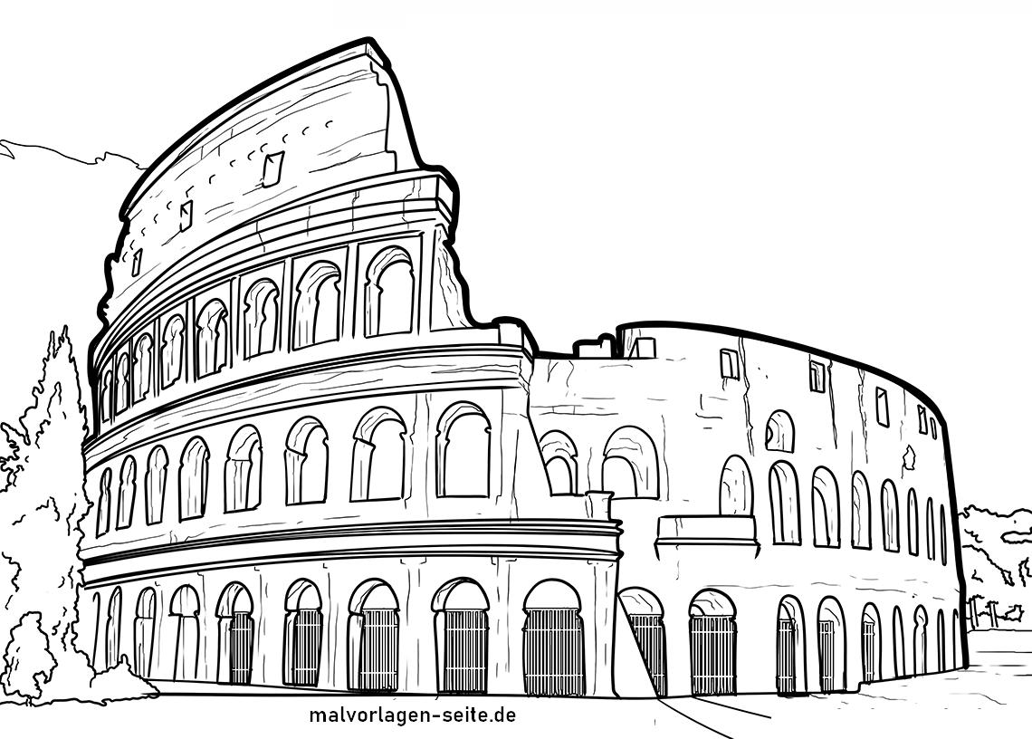 Malvorlage Colosseum Rom